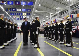Recruits learn the sailor's creed in boot camp