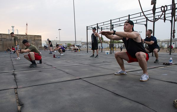 Squats wiill help get you prepared for Navy boot camp
