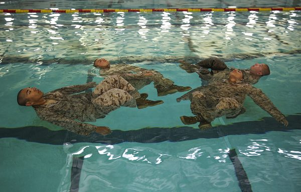 USMC Swim Qual water tread