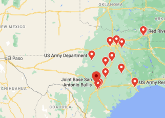 army bases in texas