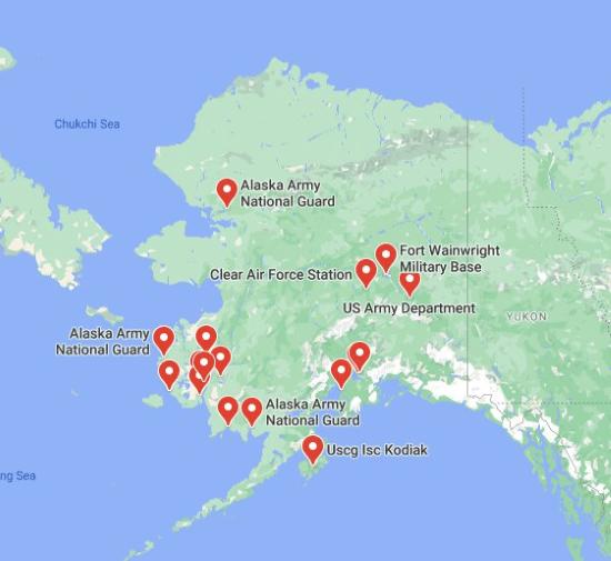 military bases in alaska