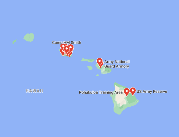 military bases in hawaii