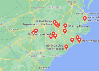 military bases in north carolina