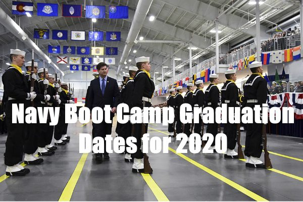 navy boot camp graduation dates for 2020