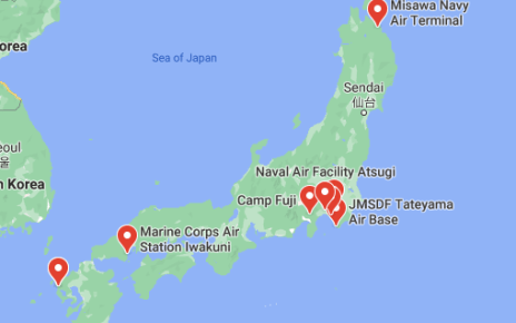 us navy bases in japan