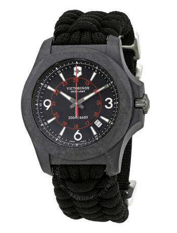victorinox inox carbon black military watch