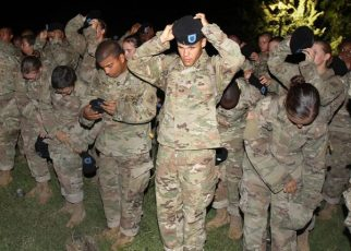 Trainees at Fort Sill Army Basic Training