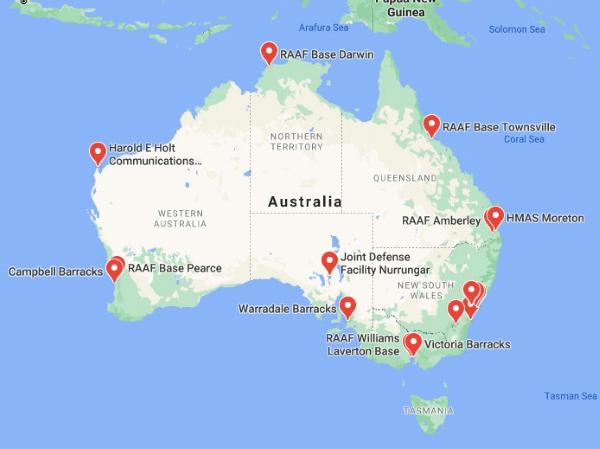 us military bases in australia