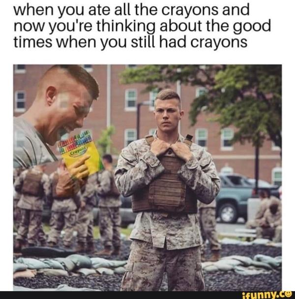 eating crayons marine