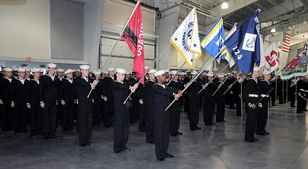 recruits participate in a graduation ceremony