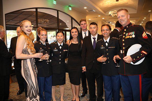 Military ball social hour