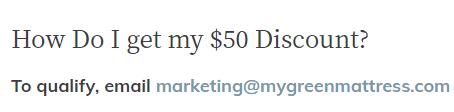 My Green Mattress military discount