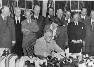 President Roosevelt signs the GI Bill