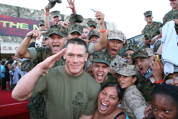 John cena military support