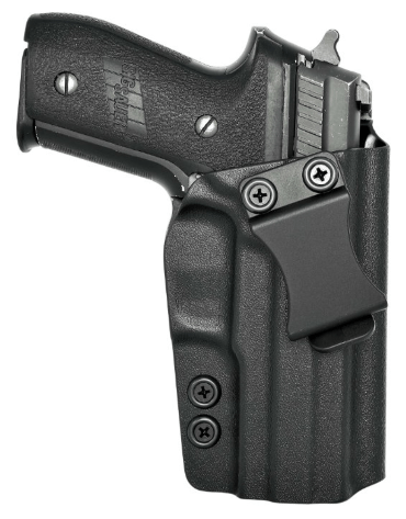 P229 with Rail OWB Kydex Paddle Holster