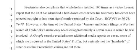 FredricksLackofCredibility