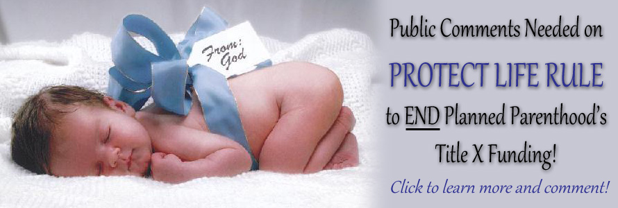 Public Comments Open on Protect Life Rule that Will End Planned Parenthood's Title X Funding