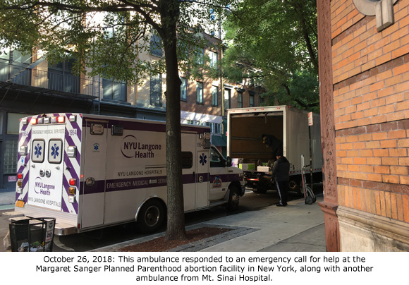 Planned Parenthood HQ Forced to Call Ambulance After