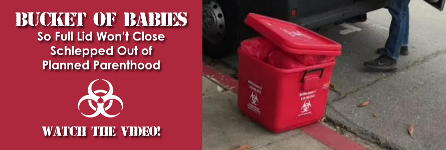 Video: Bucket of Babies So Full Lid Won't Close Schlepped Out of Planned Parenthood