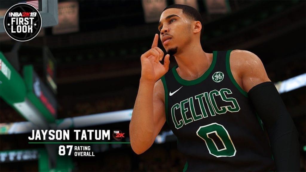NBA 2K19 Screenshot  Jayson Tatum Overall Rating  87