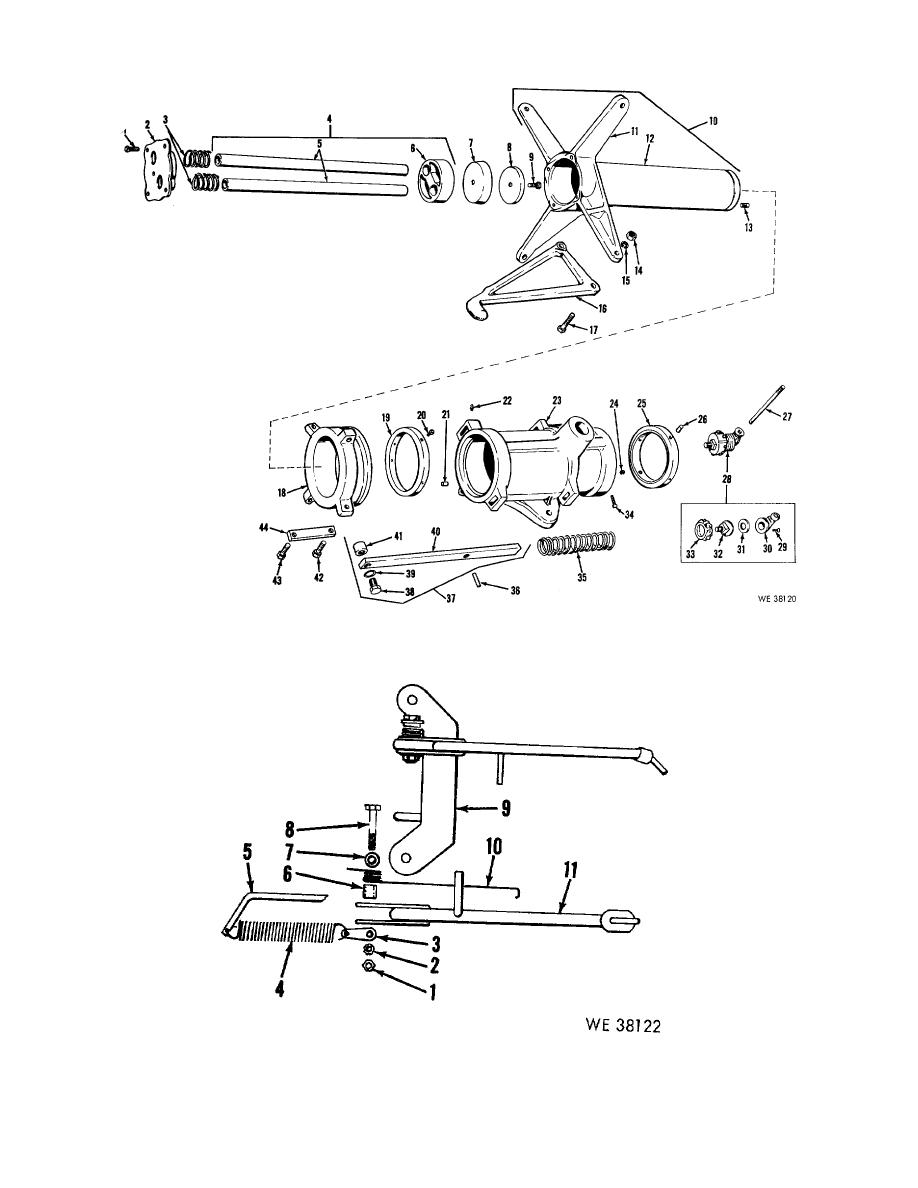 Figure 1. Air cylinder and inside arm assembly.