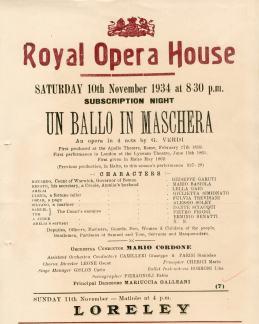 ROH (Malta) handbill Simionato as Ulrica