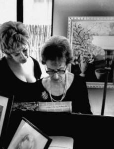 Sills with her beloved teacher, Estelle Liebling