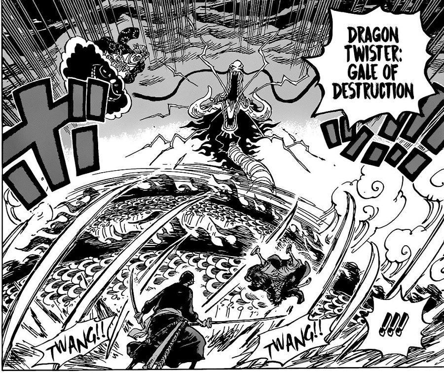 Manga one piece 988 resmi terbit pada 23 agustus yang memulai pertarungan antara luffy vs big mom dan suku mink vs kaido. Zoro Is Going To Fight Hybrid Kaido Alone Until Luffy Recovers One Piece