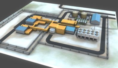 An illustration of Global First Power's proposed Micro Modular Reactor project.
