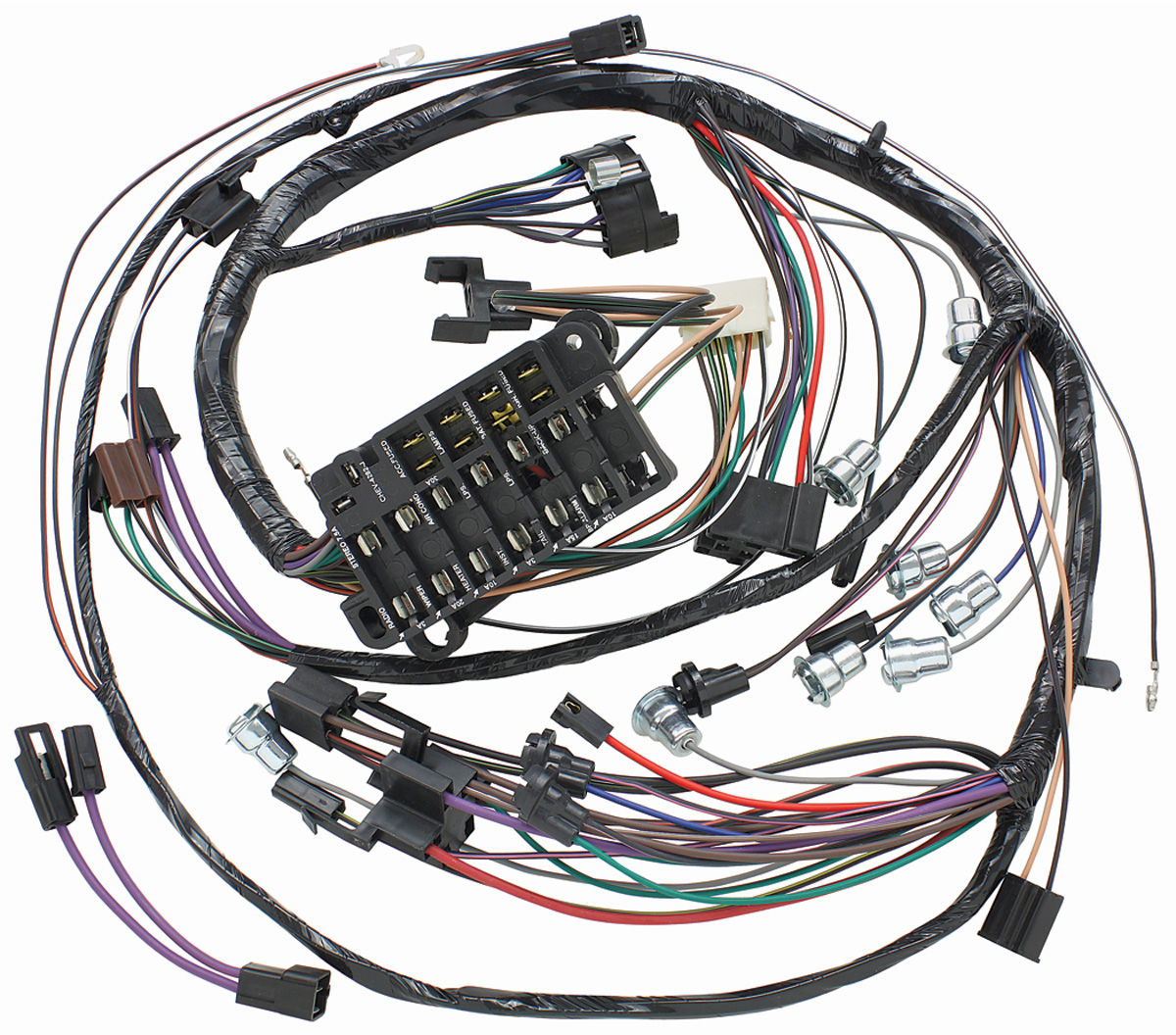 hight resolution of 1971 el camino dash instrument panel harness all sweep gauge type