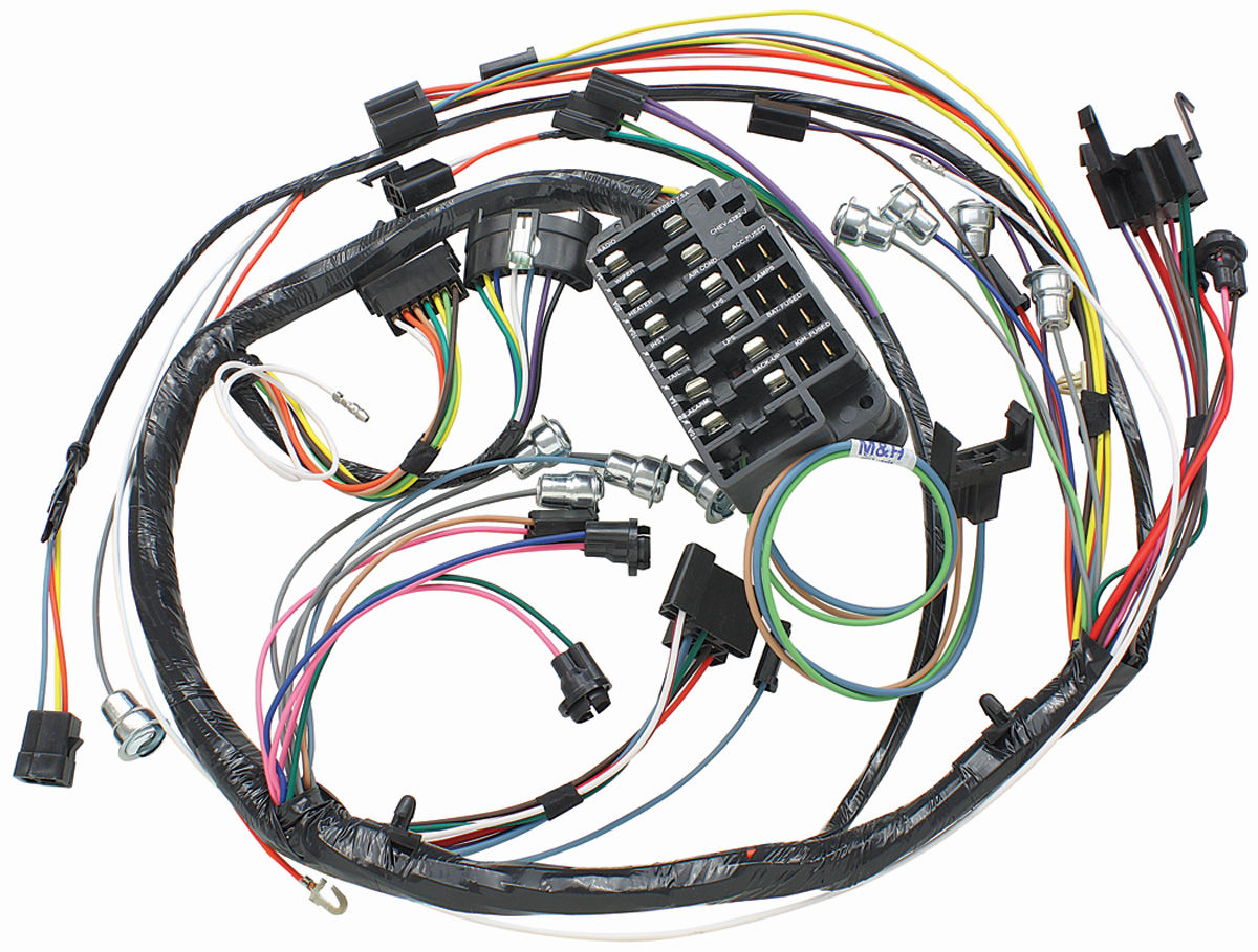 hight resolution of el camino dash instrument panel harness column shift auto trans tap to enlarge