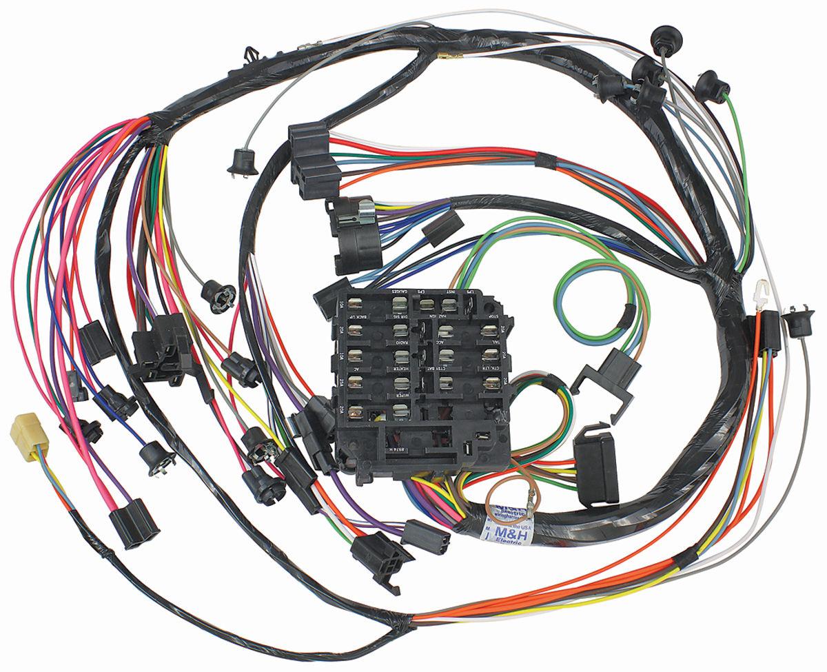 medium resolution of m h 1968 chevelle dash instrument panel harness w warning lights 1968 chevelle dash instrument panel harness