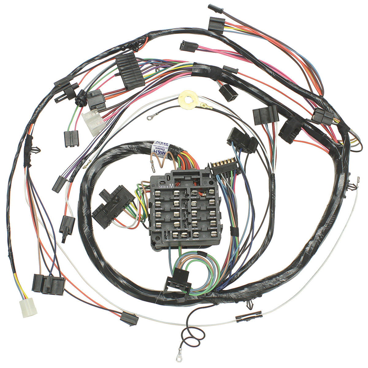 hight resolution of chevelle dash instrument panel harness all round gauge type w ss gauges tap to enlarge