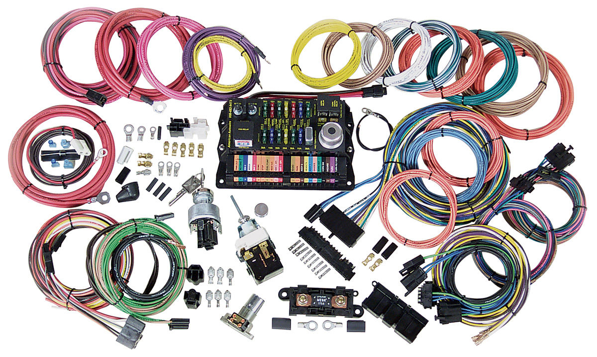 hight resolution of american autowire wiring harness kit highway 22 fits 1978 88 el camino opgi com