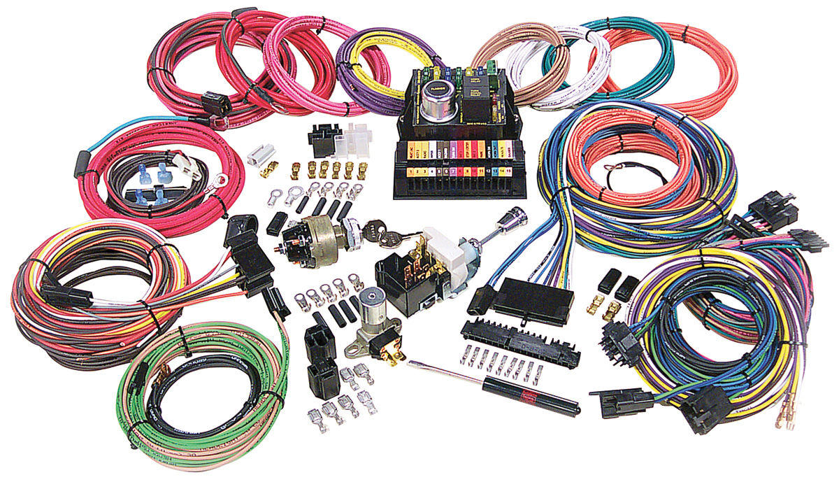 medium resolution of american autowire 1961 72 skylark wiring harness kit highway 15 wiring harness components 1963 cadillac wiring harness