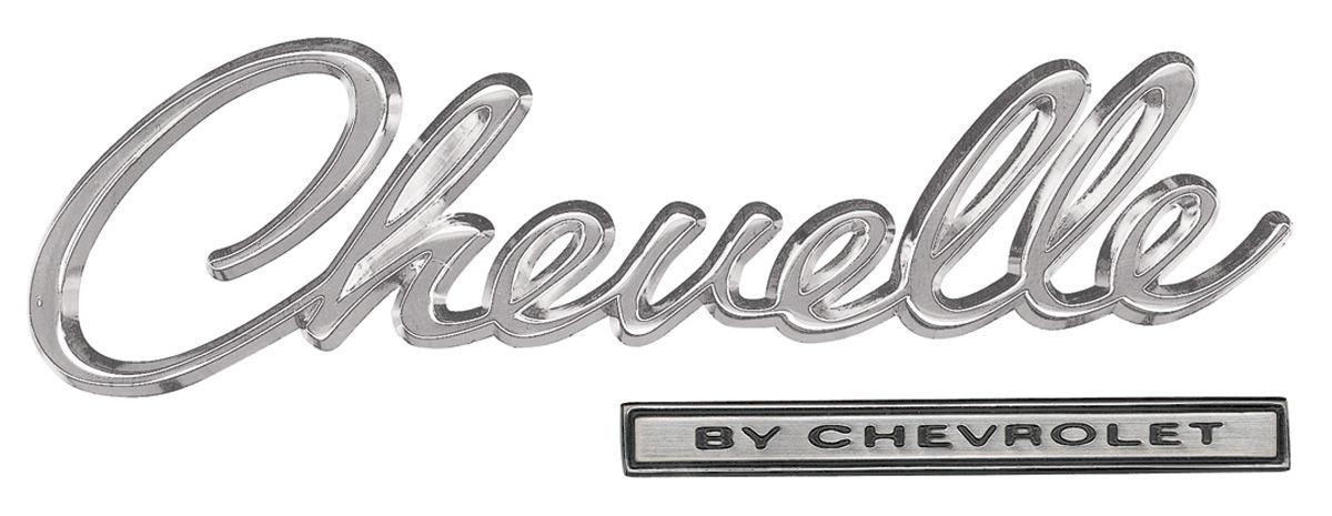 1969 Chevelle Header Panel Emblem Kit, 1969 @ OPGI.com