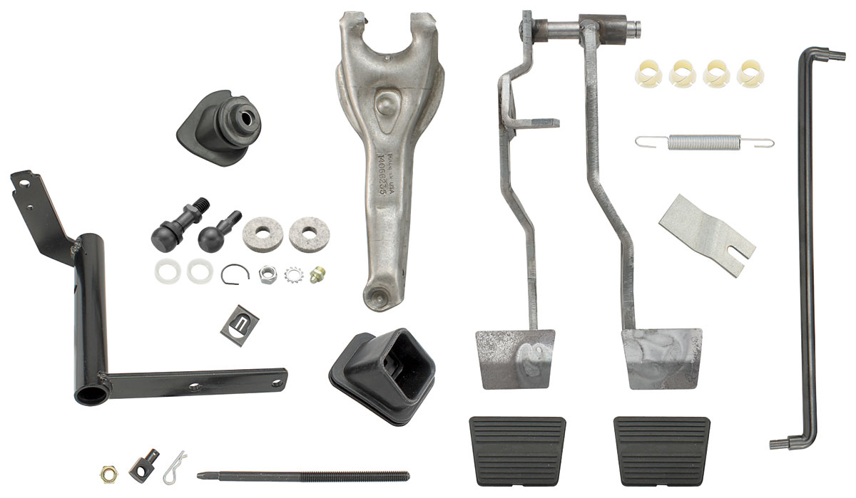 hight resolution of el camino clutch linkage kit complete small block tap to enlarge