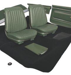 gto interior kit stage i coupe fits 1969 gto [ 1200 x 778 Pixel ]
