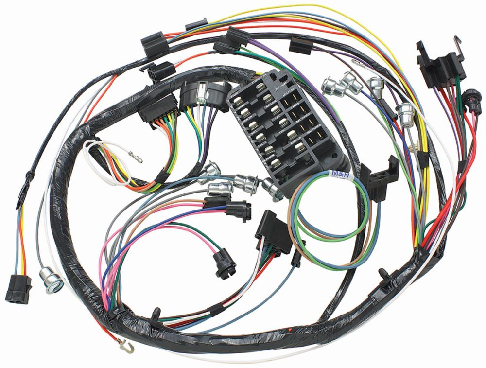 medium resolution of chevelle dash instrument panel harness column shift auto trans tap to enlarge