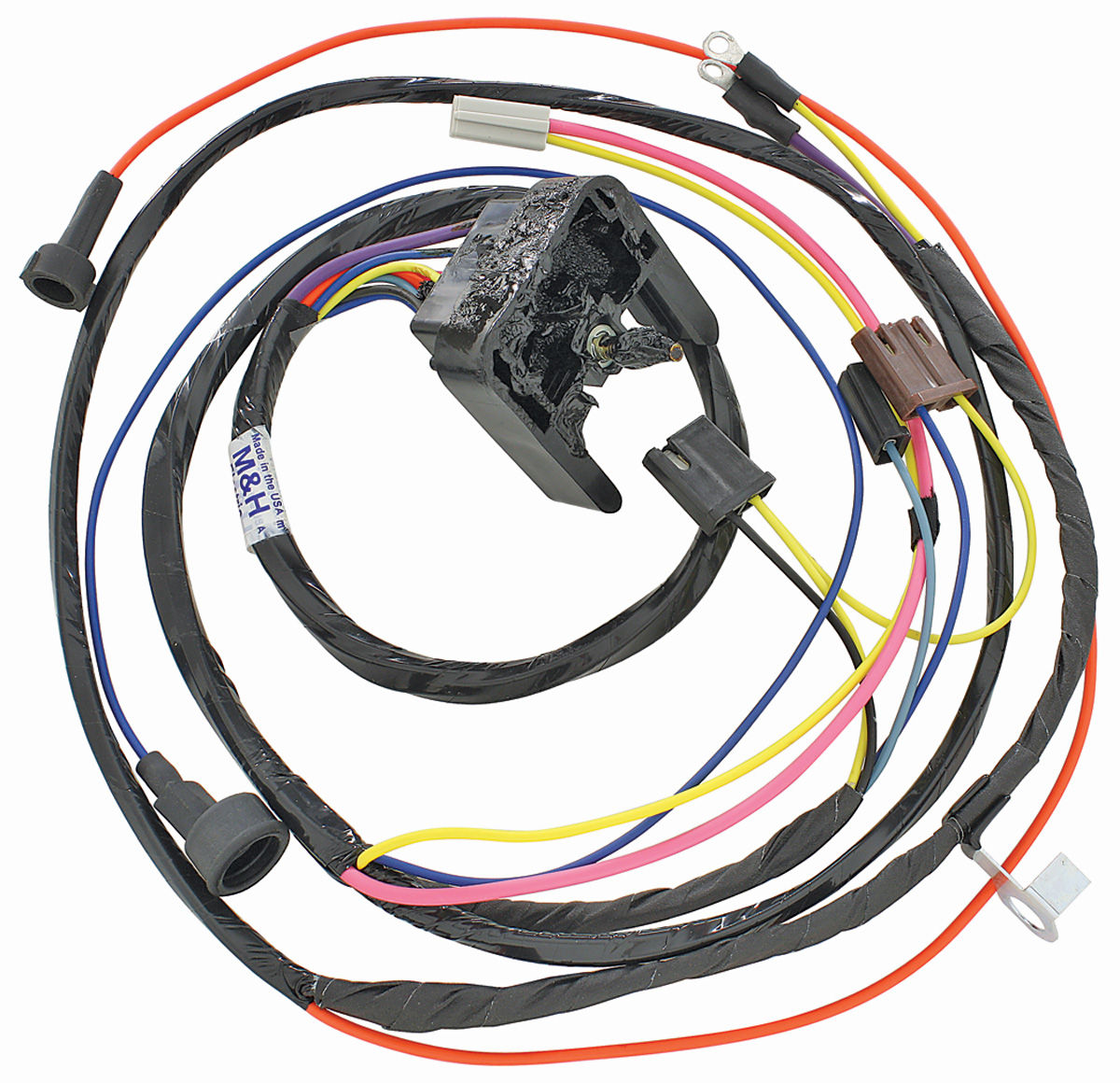 hight resolution of m h 1968 69 chevelle engine harness 396 hei w warning 2008 cadillac cts headlight wiring harness