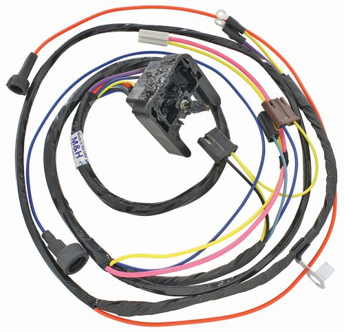 small resolution of m u0026h 1968 69 chevelle engine harness 396 hei w warning lights opgi com1968