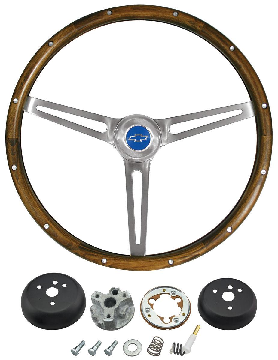 hight resolution of el camino steering wheel kits walnut wood tap to enlarge