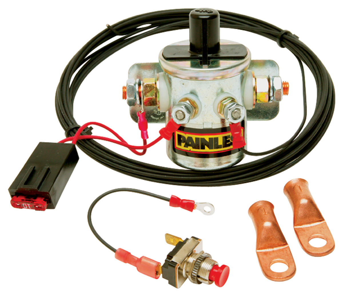hight resolution of painless performance master disconnect switch w latching solenoid