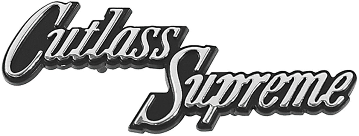 Cutlass/442 Glove Box Emblem, 1970-72 Cutlass Supreme