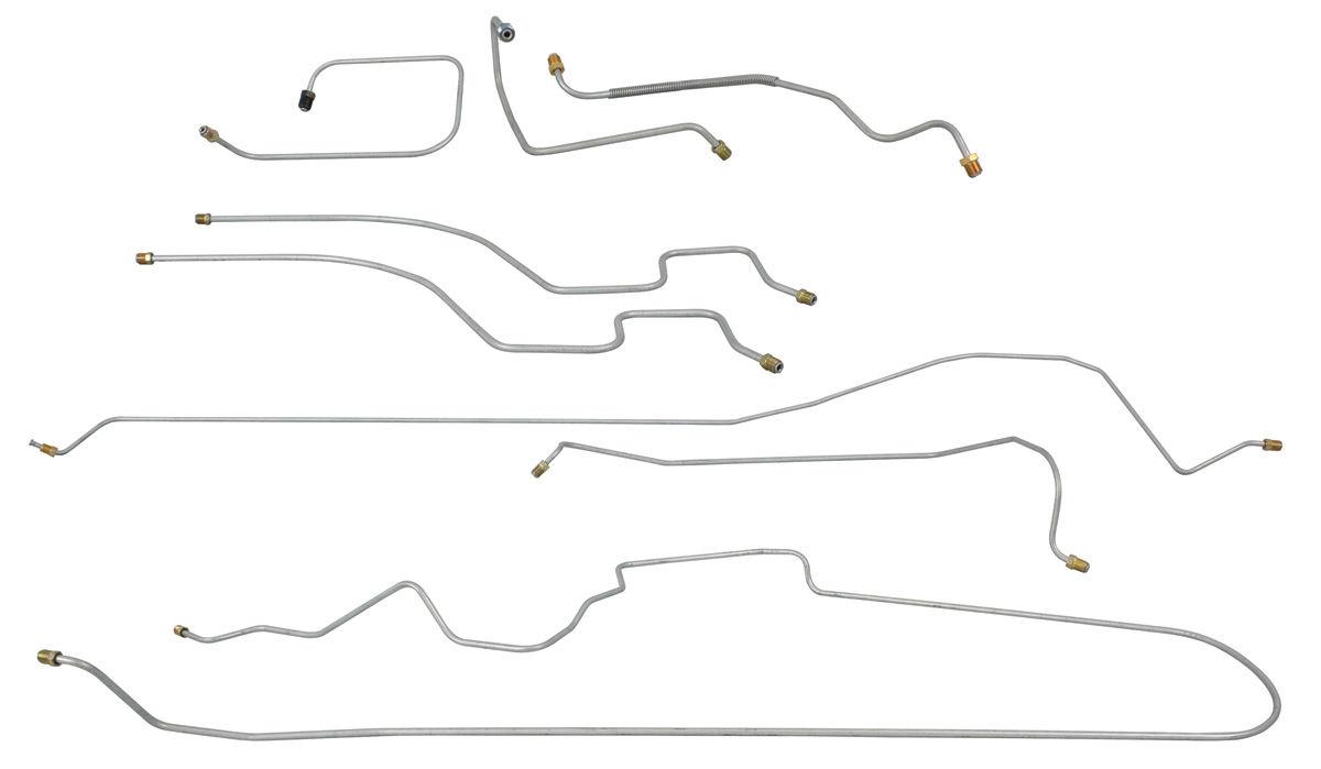 1967 Brake Line Set: Front-To-Rear Power Brake (DeVille