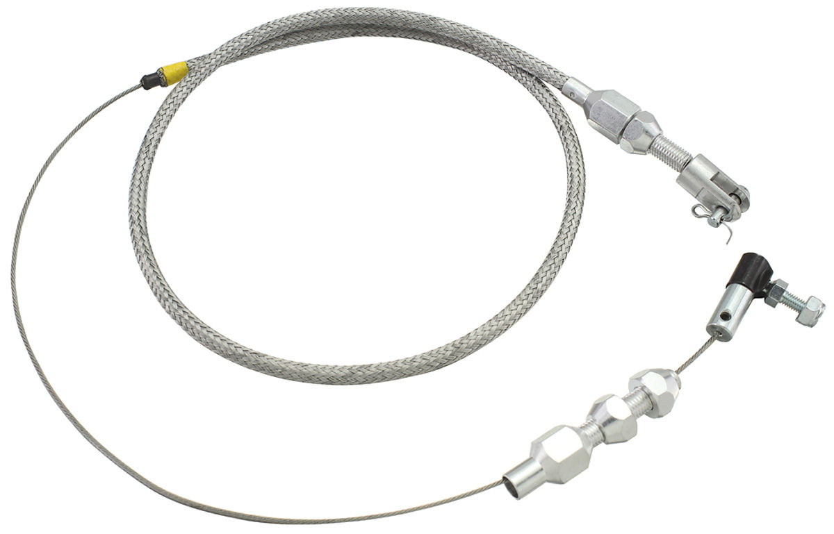 77 Chevelle Throttle Amp Kickdown Cable Braided Stainless Steel Throttle For Years