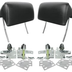 Car Seat Office Chair Conversion Kit Antique Pine Rocking Restoparts 1966 67 Chevelle Headrests Reproduction Bucket