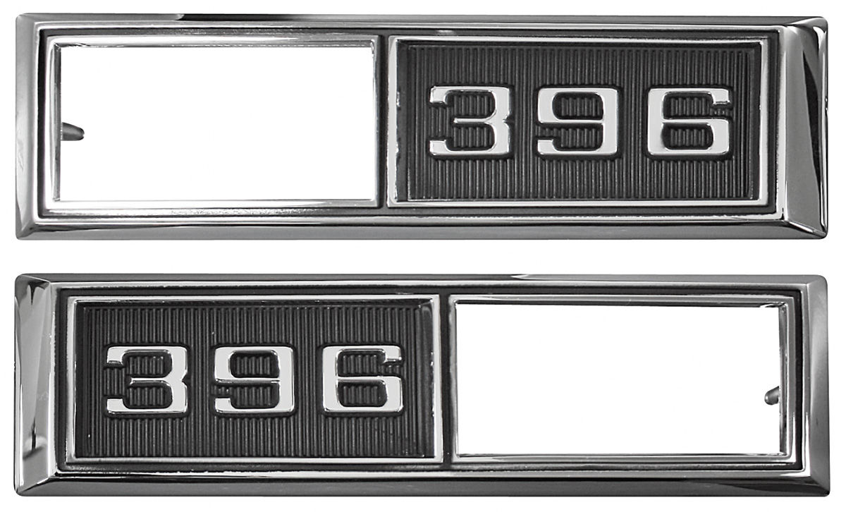 Trim Parts Fender Emblem 1968 Marker Lamp Bezel 396