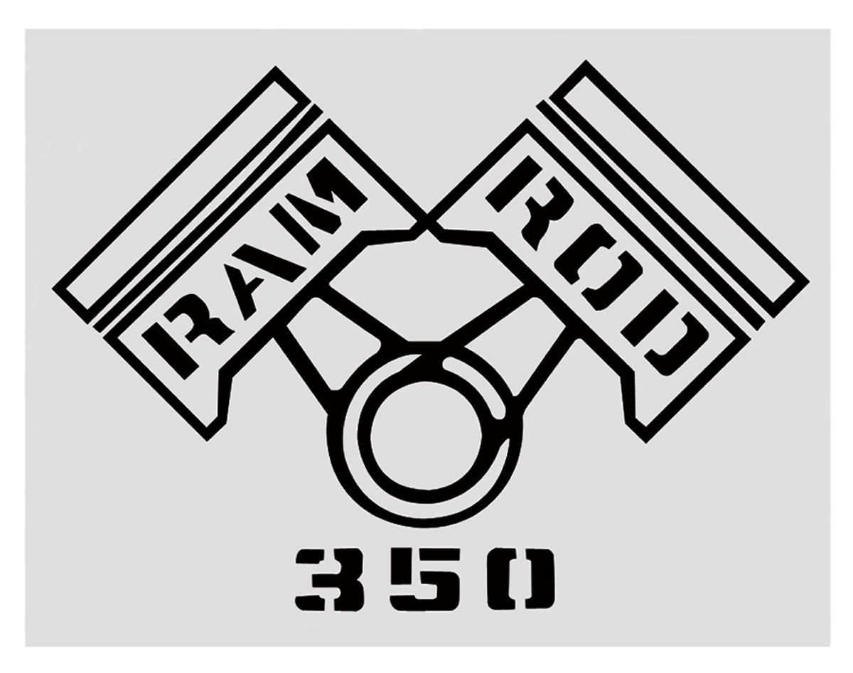 RESTOPARTS 1969 Cutlass Fender Decal Black Ram Rod 350