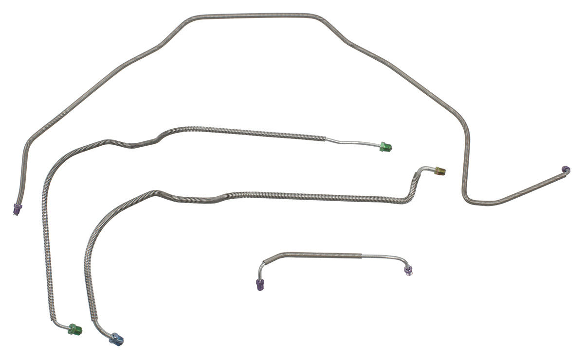hight resolution of 1967 chevelle brake lines front drum brake power ss 4 piece